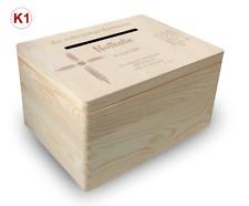 gr. Holzbox Briefbox (K1) Konfirmation Kommunion Geldgeschenke incl. Lasergravur