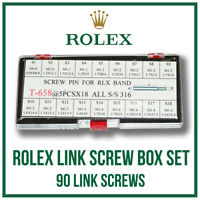 ♛ ♛ ROLEX Link Screw Box Set 90 pieces For Submariner, GMT, Datejust etc. ♛ ♛