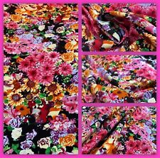 """""""Indian Summer""""  Printed, Rayon Viscose Floral Print Dress Fabric, 56"""" Wide,"""