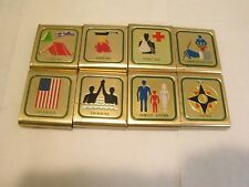 Boy Scouts Of America Lot of  8 Metal Activity Skill Belt Loops Slides #101