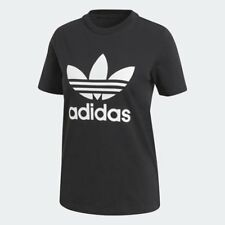 Women's Adidas Originals Trefoil T-Shirt Black/White [z] CV9888