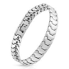 """Mens Tungsten Carbide Bracelet 12.5 mm Panther Link Length: 8.27"""""""