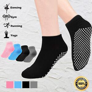Yoga Fitness Grip Excercise Socks Sport Rubber Pilates Non Slip Sock Gym 3