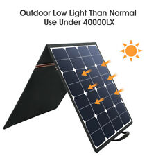Suaoki Portable 100W 5V 18V Solar SunPower Panels Car Charger Clamps for Laptop