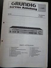 Original Service Manual  Grundig Verstärker V 7000