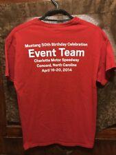 FORD MUSTANG ~ LRG ~ 50th Birthday Charlotte Motorspeedway 2014 STAFF ~ T Shirt