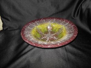 WMF IKORA Glasschale Durchmesser 31 cm Höhe 8 cm  Art Deco Schale Schüssel