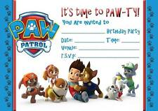 PAW PATROL BIRTHDAY KIDS PARTY INVITATIONS INVITES  WITH OR WITHOUT ENVELOPES