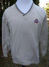 Nike Golf Ohio State Buckeyes Beige Windcheater Jacket Pullover - Size Medium