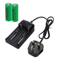 2X 3.7V 26650 8000mAh Li-ion Rechargeable Battery+Charger For Flashlight Torch