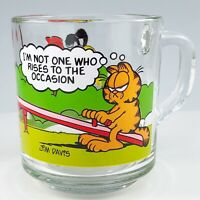 Garfield Odie McDonald's Glass Mug Cup See Saw Teeter Totter Anchor Hocking Vtg