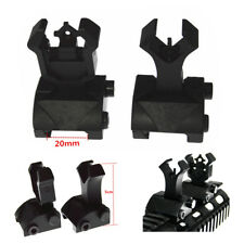 2pcs Tactical Mil-Spec Front and Rear Iron Flip Up Sights For Picatinny Rail Set