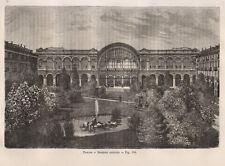 1865 Torino, stazione centrale xilografia