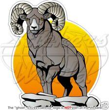 "Bighorn mouton aries faune ram sheep aries 4,3"" (110mm) autocollant sticker"