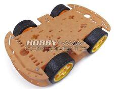 4 Wheeled Robot Smart Car Chassis Kit DC 3V 5V 6V suitable for Arduino