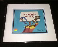 Warner Brothers Chuck Jones Signed RoadRunner Cel Chariots Of Fur Rare Art Cell