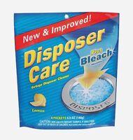 4pk DISPOSER CARE Sink Garbage Disposal & Drain Cleaner Remove Odors Lemon Scent