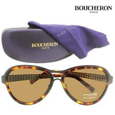 Boucheron, Paris, BES133, Color 01 Brown Aviator Mens, Unisex Sunglasses