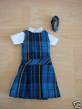 NIP 3 pc SCHOOL UNIFORM Dress Jumper Outfit Clothes for Barbie doll PLAID #2C
