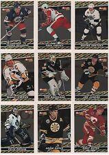1993-94 Topps Premier Black Gold Hockey Complete Insert Set 1 - 12 Winner A