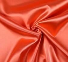 (EUR 4,97/m) SATIN FUTTERSTOFF Stoff Meterware elastisch glänzend Orange