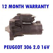 Peugeot 306 2.0 16V 1997 1998 1999 2000 2001 2002 Remanufacturé Démarreur Moteur