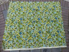 Vtg Screen Printed Savalux Fabric Burlap? Upholstery Flower Power Garielle Cie