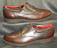 Sebago brown oiled leather oxfords lace ups Men s shoes size ... 95ca1130d