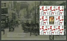 GB 2017 THE GREAT WAR MILITARY POPPIES BOOKLET PANE MNH