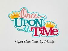 Craftecafe Mindy Princess Once Upon A Time premade paper piecing scrapbook title