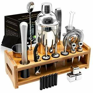 26Pcs Stainless Steel Cocktail Bar Tool Set,Perfect Bar Accessories for Home