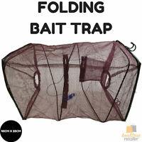 FOLDING BAIT TRAP Fishing Crab Net Shrimp Cast Net Cage Minnow 40cm x 25cm New
