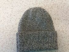 Made in Scotland Beautiful  CASHMERE BEANIE HAT 4ply  Grey/White Natural  Fleck