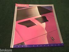 MINT 1987 CAMARO SALES BROCHURE 20 PAGES 11 X 12 W/ COLOR CHART (box 550)