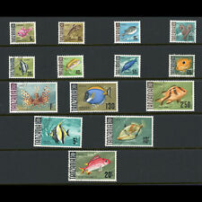 TANZANIA 1967 Fish. Part Set. (No 70c or 1s30). SG 142-157. Fine Used. (WB862)