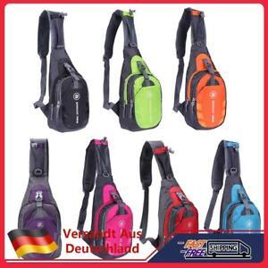 Herren Damen Wasserdicht Brusttasche Sling Bag Rucksack Wandern Crossbody Tasche
