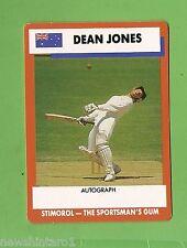 1990/91 STIMOROL CRICKET CARD #18  DEAN JONES