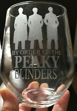 Personalised Glass Peaky Blinders Order Stemmed/Stemless **CHECK INFORMATION**