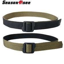 """50"""" Tactical Airsoft Nylon Double-sided Duty Belt Black & Olive Drab XXL Size"""