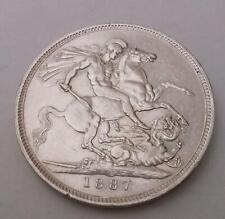 1887 Crown Silver Coin Extra Fine Queen Victoria