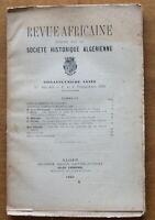 1920 - Revue Africaine - Société Historique Algérienne - N°302-303