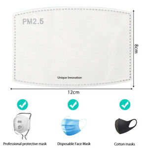 PM2.5 Face Mask filter for Washable reusable cotton masks face cover filters