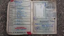 WW2 GERMAN DOCUMENT COLLECTABLE DEUTSCHES REICH KENNKARTE THIRD REICH VINTAGE