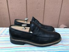 Euc Steptronic Arrow Sheep Skin Black Leather Loafer Slip On Men'S Us 9 Eur 43