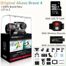 AKASO Brave 4 Black 20mp WiFi Action Camera Sony Sensor 4k HD Camcorder 2018