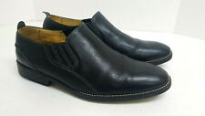 Sandro Moscoloni Mens Size 13D Black Pebbled Leather Slip on Shoes
