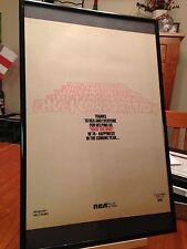 """2 Big 11X17 Framed Hues Corporation """"Rock The Boat"""" & """"Rockin Soul"""" Lp Promo Ads"""