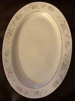 "Platter Vintage Royal Majestic 14""L X 10 1/4""W Cannes Pattern Fine China"