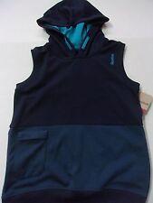 NWT Boys $32 Reebok Navy Blue Sleeveless Performance Hoodie Small 8 ~Must See!