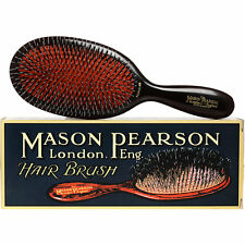 Mason Pearson large POPULAR Bristle & Nylon BN1, Dark Ruby. Worldwide shipping